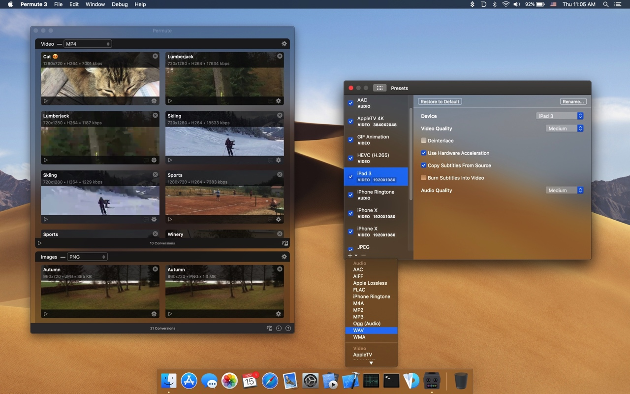 Permute - Media Converter for macOS - Charlie Monroe Software